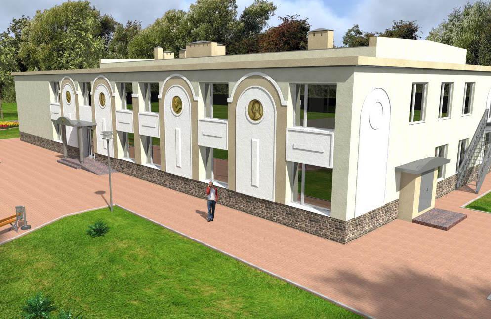 Фасад майбутнього Гоголівського культурного центру