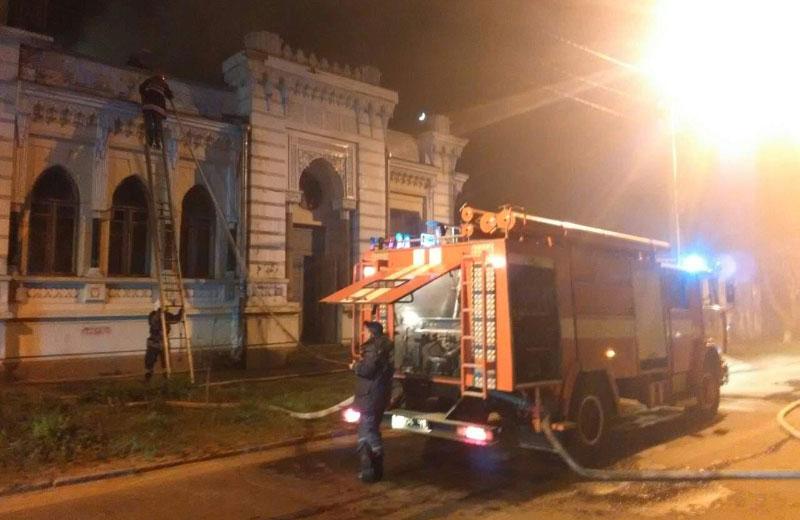 Пожежа вісторичній будівлі навул. Пилипа Орлика, 15