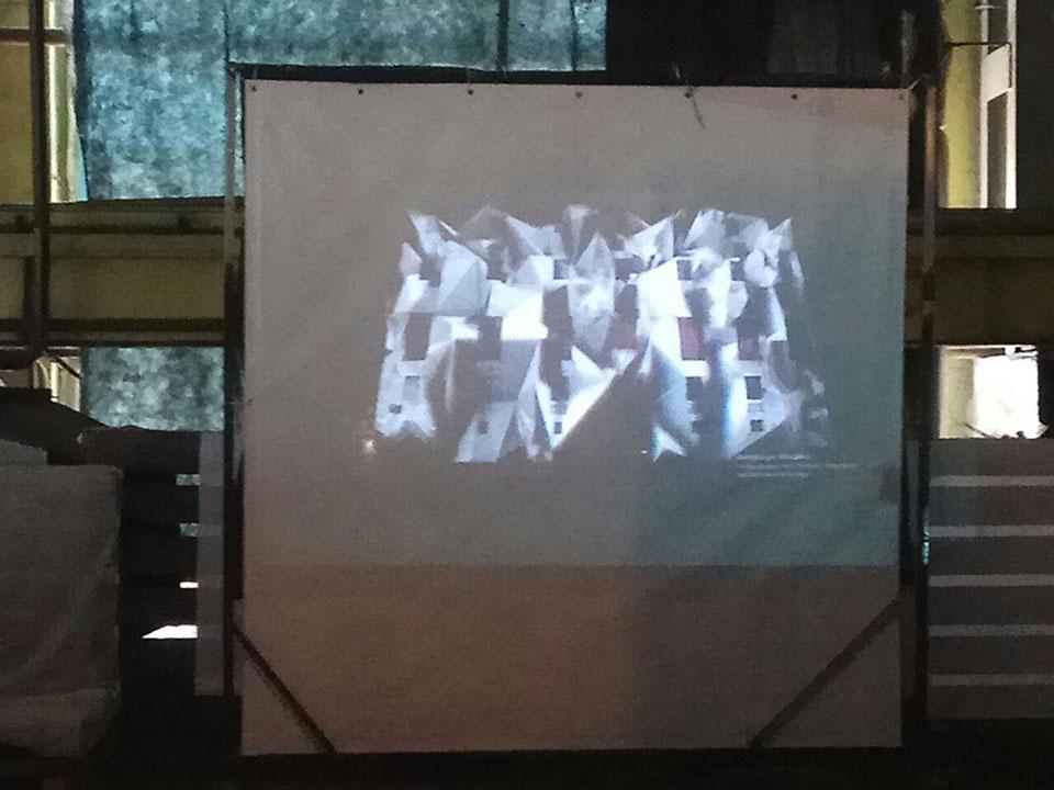 Приклад медіа арту на будівлі