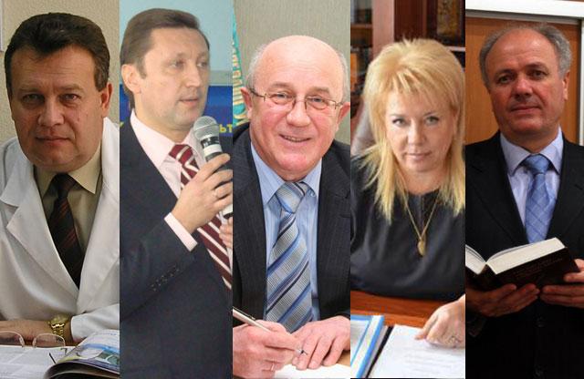 В. Ждан (УМСА), В.Онищенко (ПНТУ), О.Нестуля (ПУЕТ), В. Аранчій (ПДАА), М.Степаненко (ПНПУ)