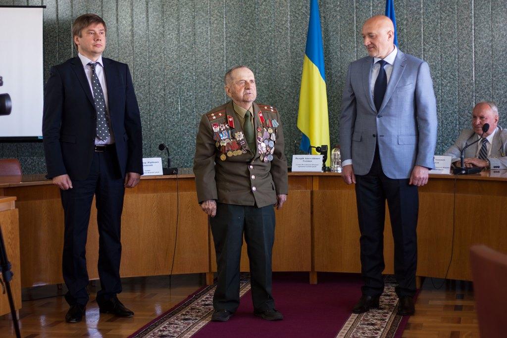 Виступ голови ради Глобинської районної організації ветеранів Івана Мошляка