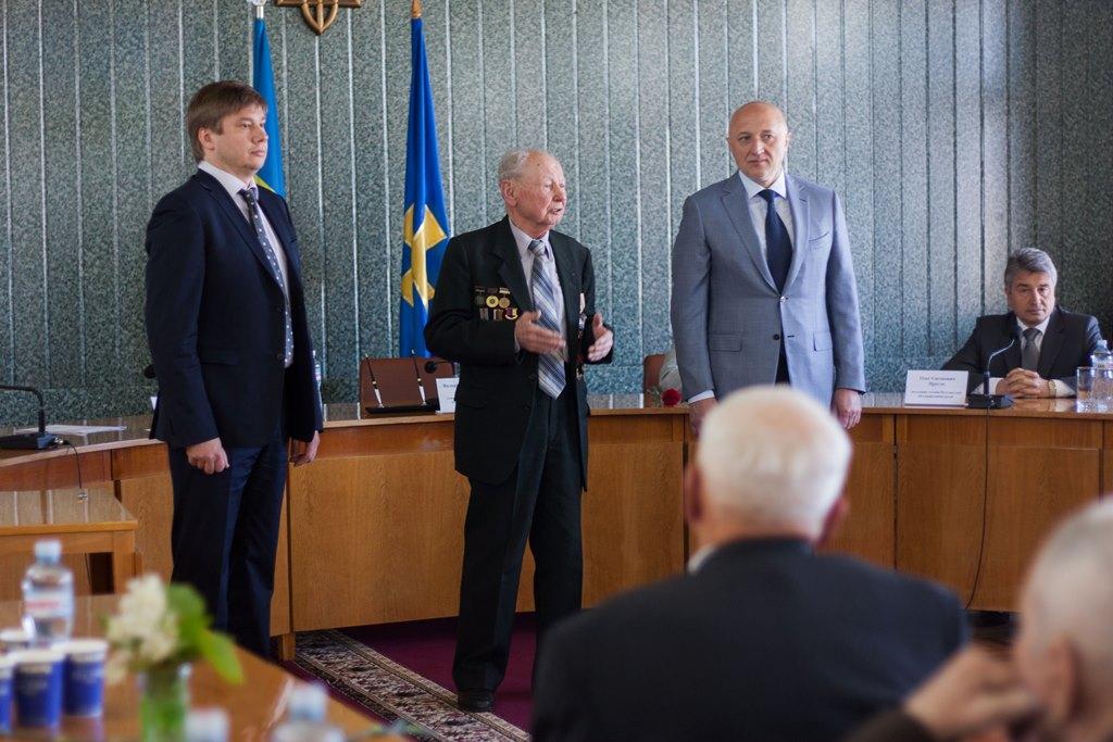 Виступ голови ради Хорольської районної організації ветеранів  Дмитро Кажан