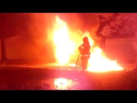 В ніч на 9 травня у Полтаві згорів BMW M5 (2017.05.08)