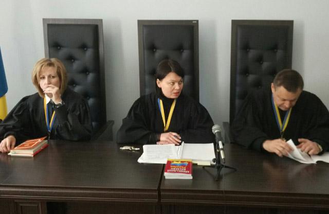 Судді Вікторія Герасименко, Анна Гонтар та Олександр Захожай