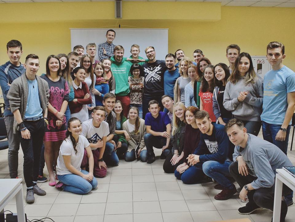 З учасниками Академії Лідерства у селі Олефірівка