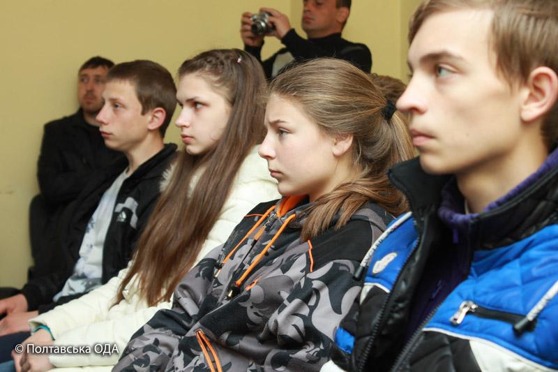 Виставку відвідали учні Полтавської школи №7