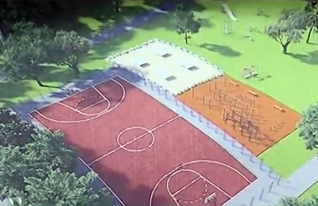 Проект щодо розміщення майданчиків для гри в баскетбол та для занять воркаутом