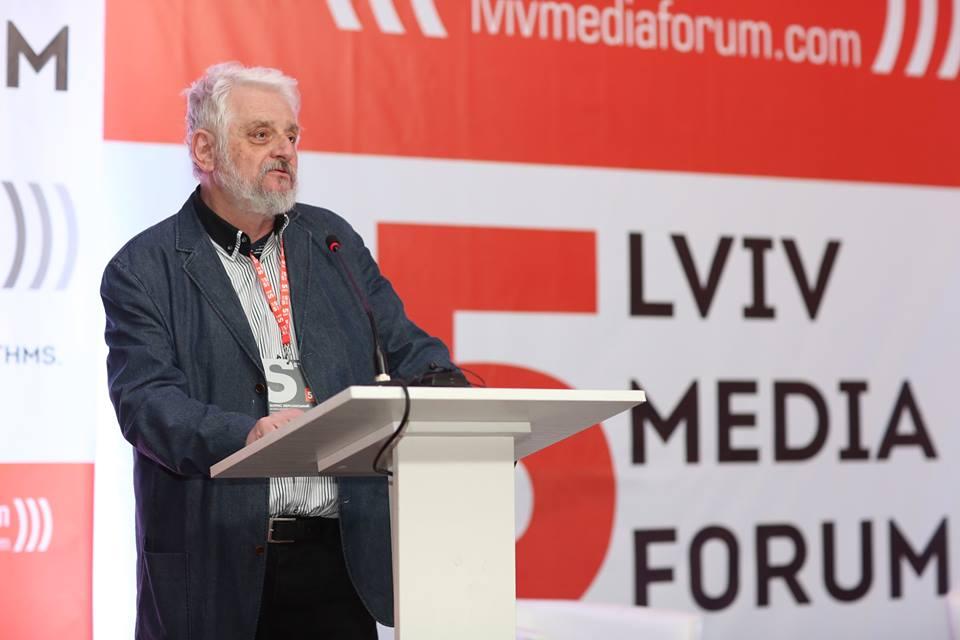Борис Херсонський виголошує Лекцію Свободи (фото Lviv Media Forum)