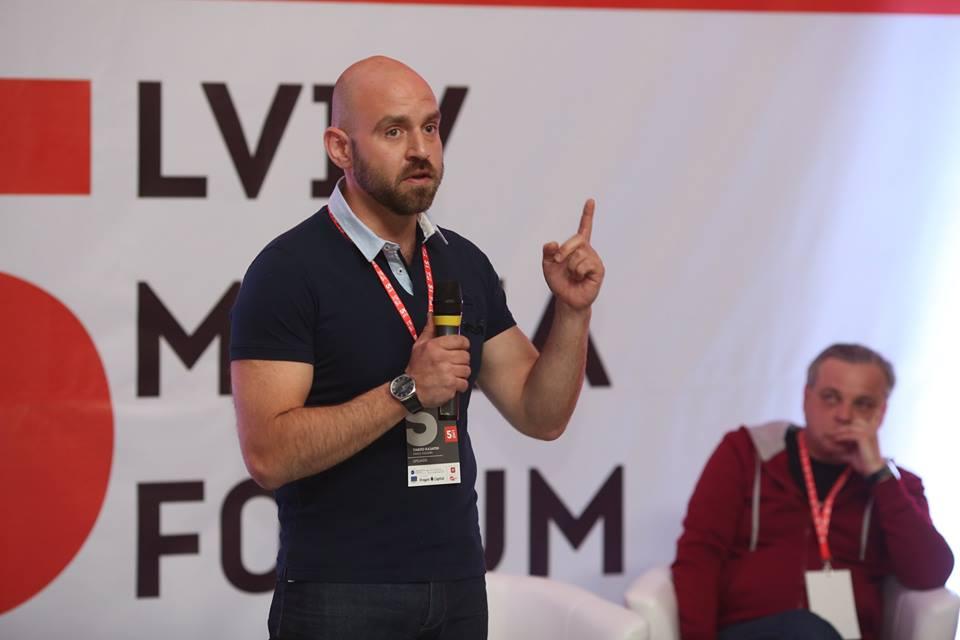 Павло Казарін та Сергій Рахманін (фото Lviv Media Forum)