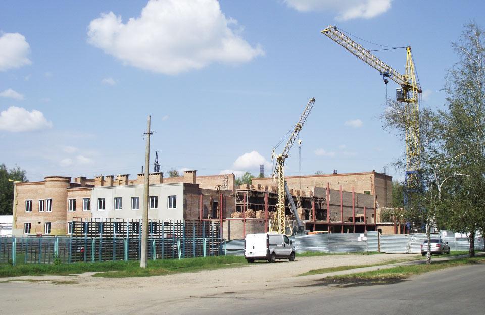 Будівництво спорткомплексу у вересні 2016 року