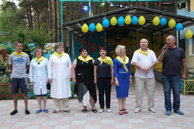 Міський голова Олександр Мамай та керівництво табору «Орлятко»