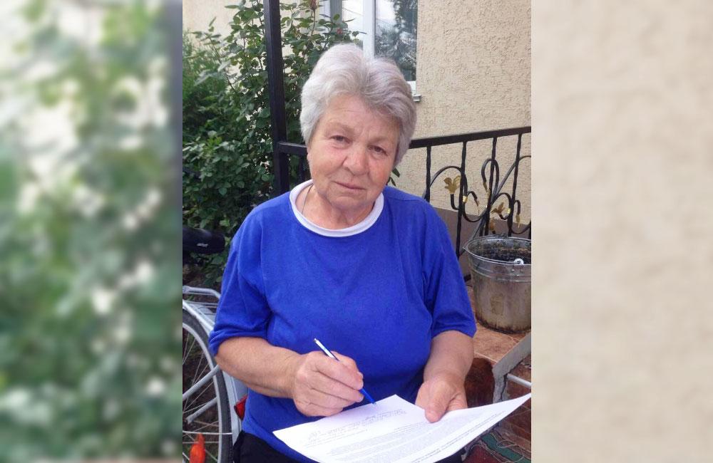 Антоніна Степанівна Ярошенко, голова вуличного комітету вул. Кононівської м.Лубни