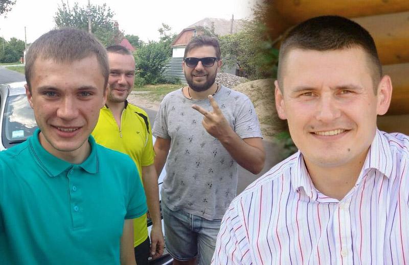 Відеоблогери Андрій Миць, Максим Філоненко, Роман Алексенко та комбат Денис Сідан