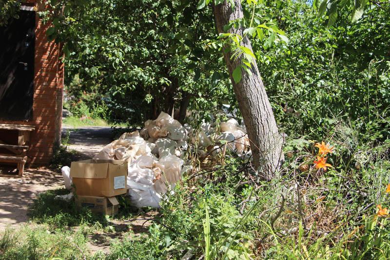 Несанкціонованіе сміттєзвалище на провулку Тупому, 6