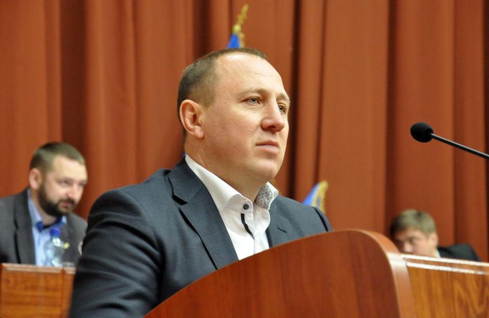 Голова фракції «Опозиційного блоку» Олег Сазонов