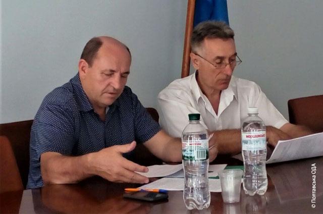 Голова Ради СГТ Полтавської області Іван Кочерга, перший заступник директора Департаменту АП розвитку Іван Рева