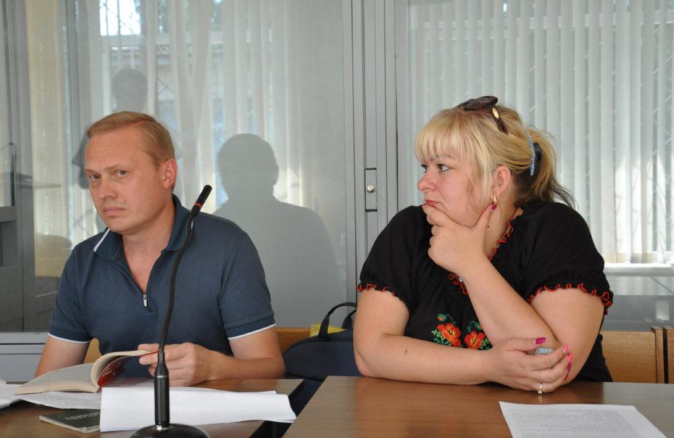 Адвокат Олег Шмаков та Лілія Бажул