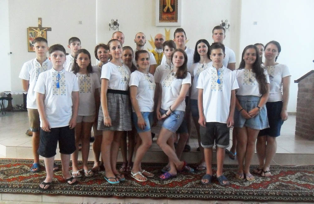 Учасники табору — греко-католицька молодь з Полтави