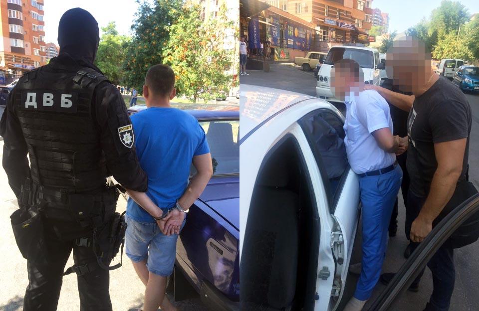 Затримані поліцейські