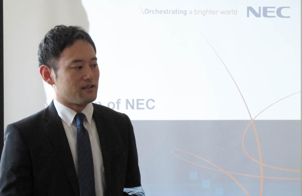 Представник NEC Corporation Ватару Іріє