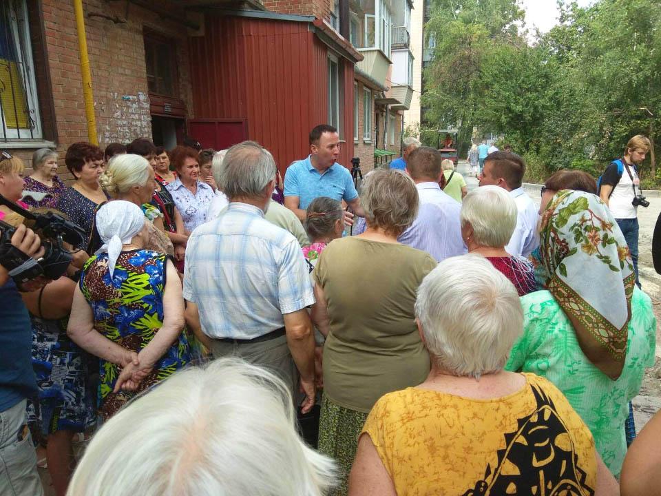 Андрій Матковський на зустрічі з мешканцями