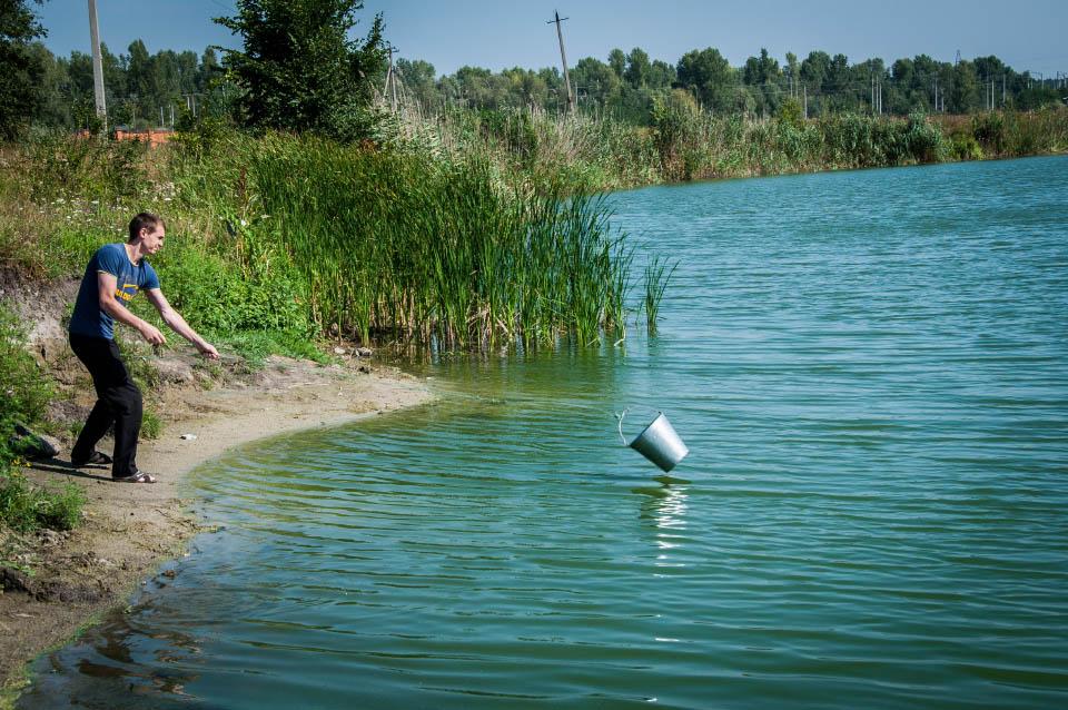 Відбір проб води біля Ліска
