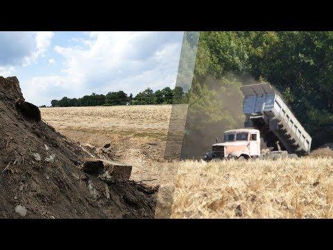 «Полтава-Білд» скидає будівельне сміття прямо у Дослідне поле (2017.08.25)