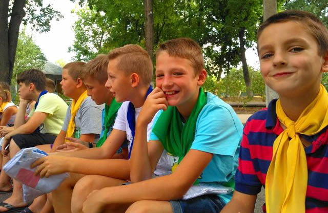 Частина дітей з парафії