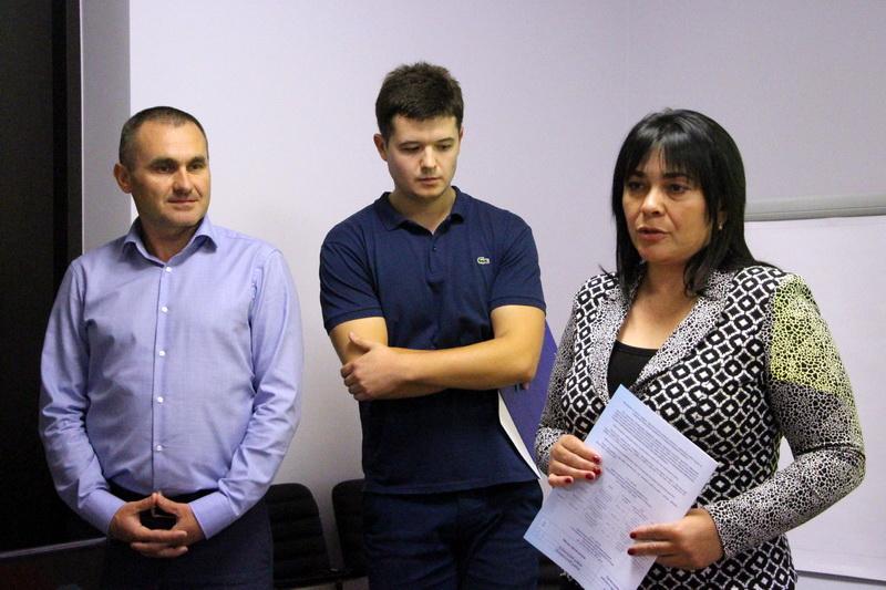 Секретар міської ради Оксана Деркач відкриває захід