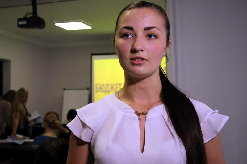 Голова Студентської ради міста Полтава Олена Кашуба