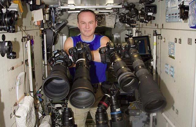 Космонавт Сергій Рязанський на МКС