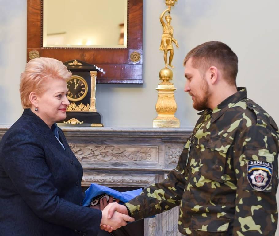 Зустріч Віктора Трофименка з Далею Грибаускайте