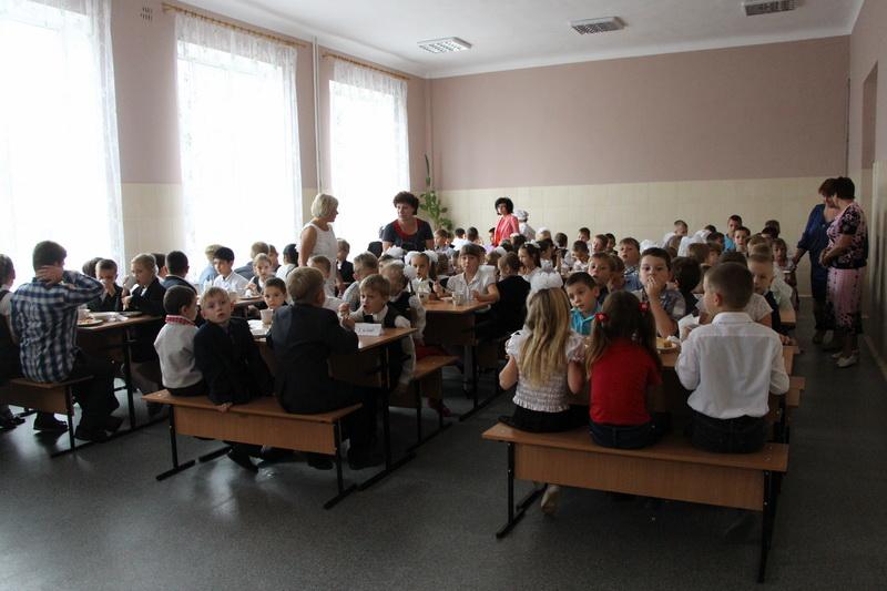 Шкільний обід в оновленій їдальні школи №8