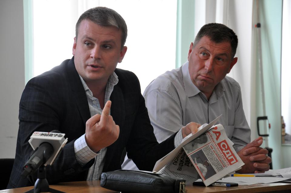 Сергій Луценко та Денис Поліщук