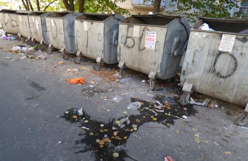 Контейнери для сміття на вулиці Опитній