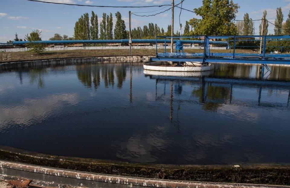 Відстоювання води перед скиданням до фільтраційних ставків