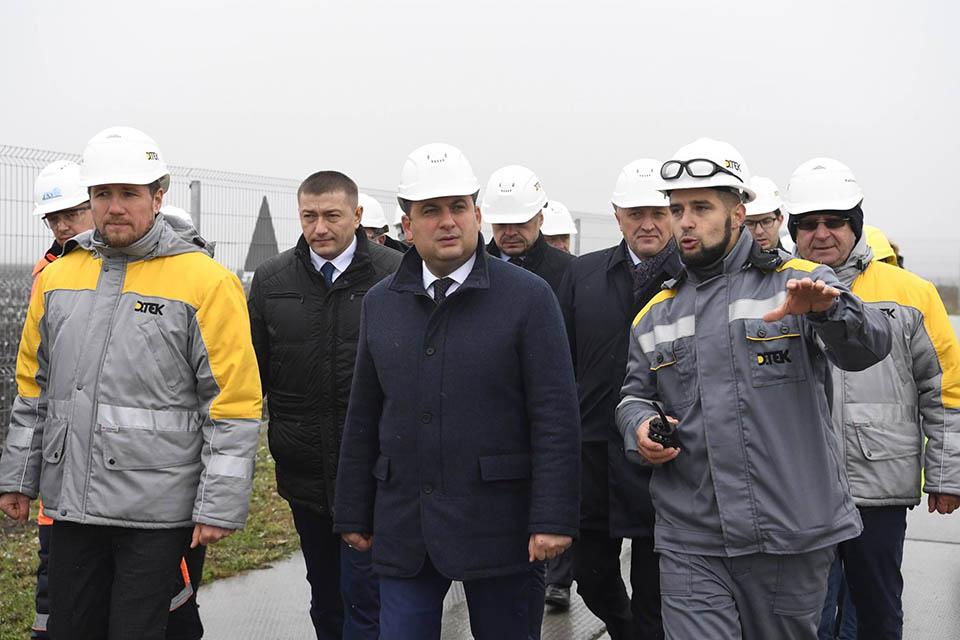 Володимир Гройсман на установці ДТЕК