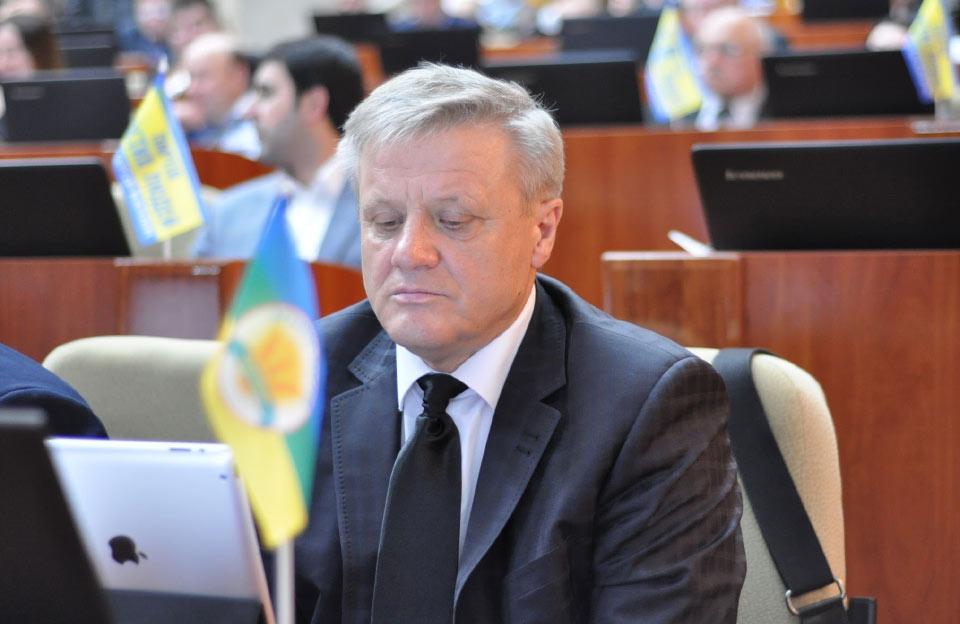 Віктор Скочко на сесії облради