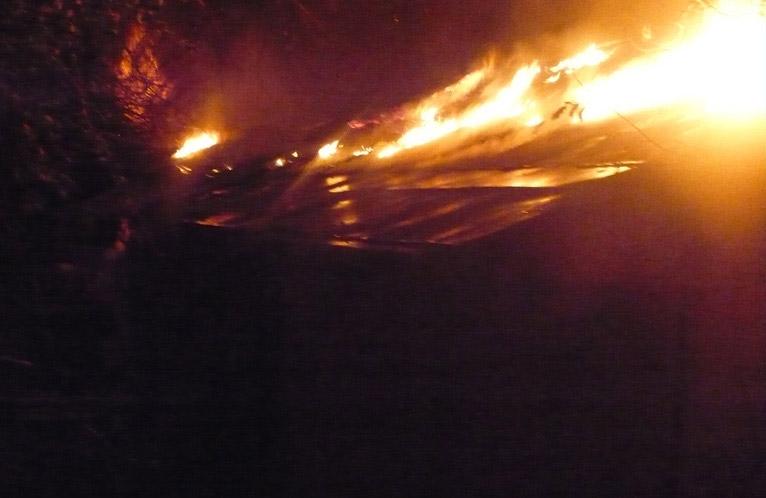 Пожежа на вулиці Касьяна у Кобеляках