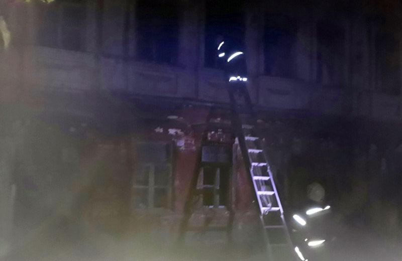 Пожежа у будівлі колишньої вечірньої школи