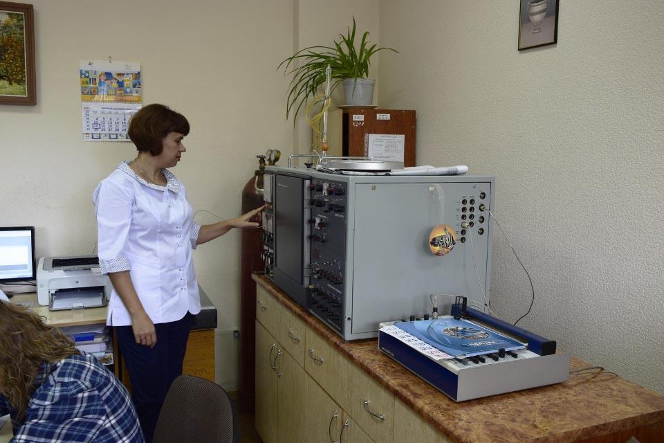 Найперший хроматограф лабораторії