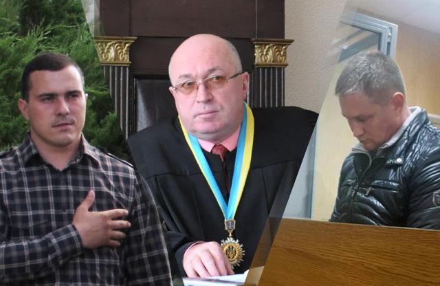 Олександр Колесников, суддя Анатолій Савченко та Олексій Соловйов