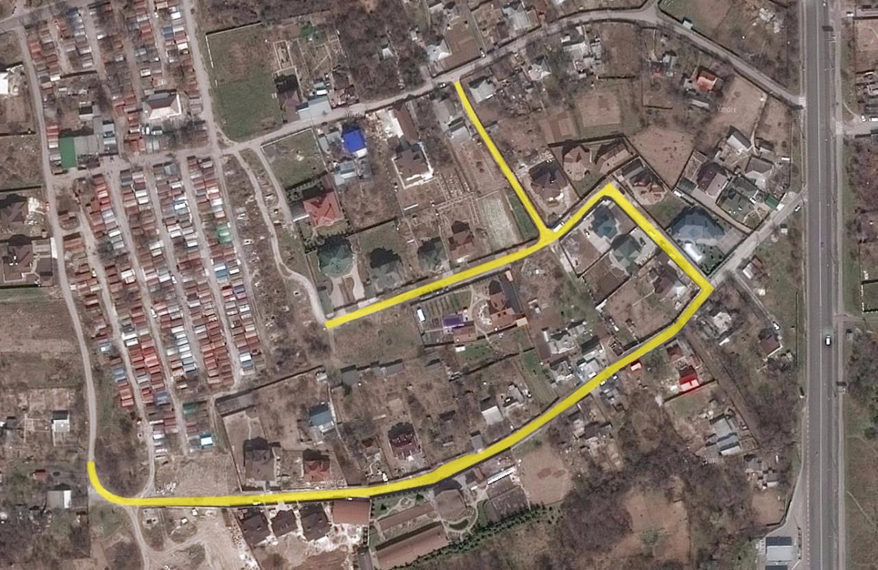Частини вулиці Світанкової та провулку Світанкового, для яких замовили проект капремонту