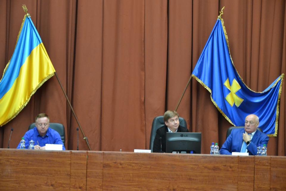 Члени ради Конкурсу на чолі з головою обласної ради Олександром Біленьким