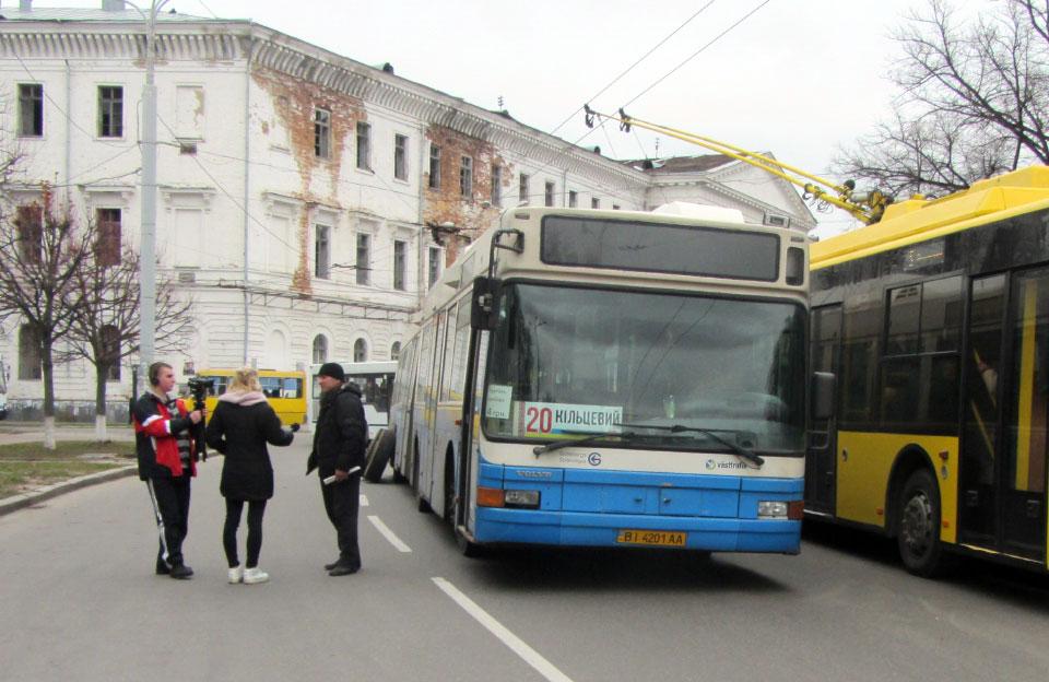 «Кільцевий» автобус «Євробус-Полтава» залишився без двох колес