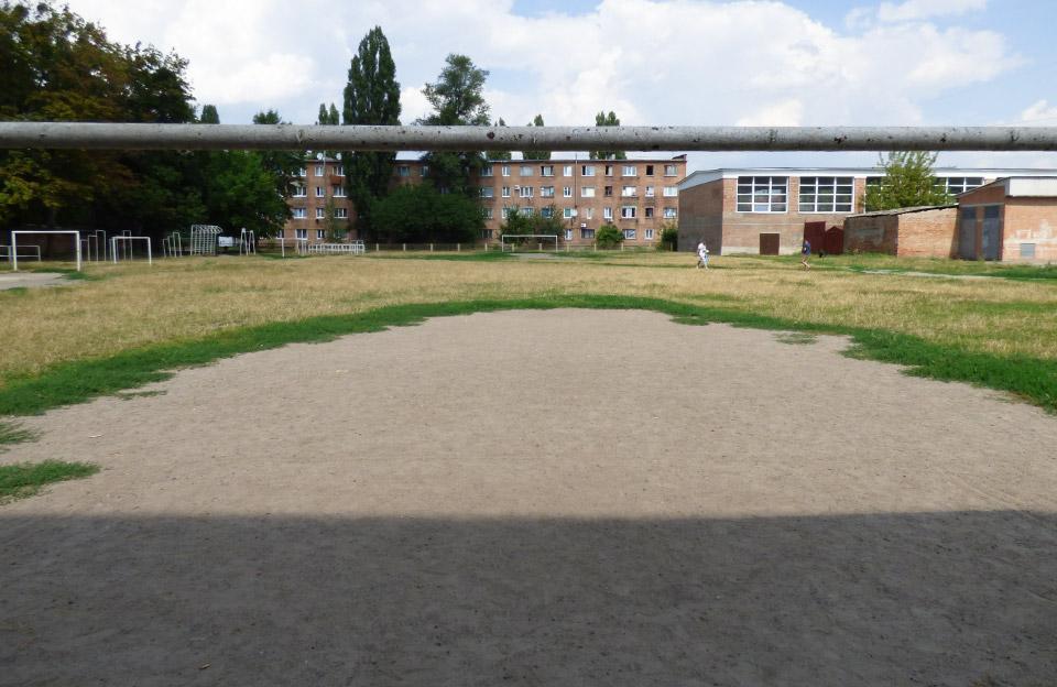 Одне з двух футбольних полів 5-ї школи