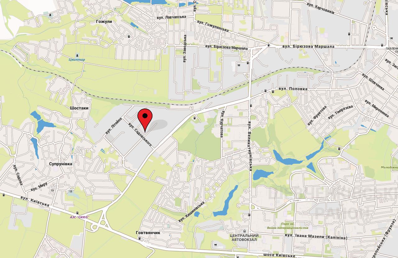 Від вулиці Буровиків, 4 до найближчого житлового будинку — 510 м