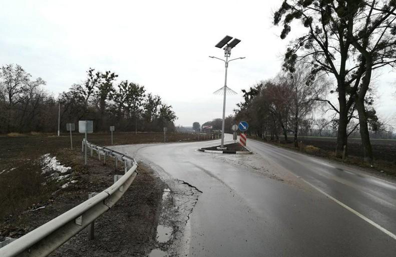 Руйнування дороги у Лохвиці