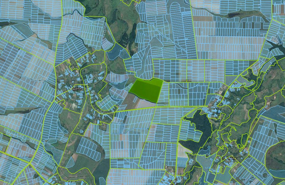 Ділянка площею 88 га між селами Ждани і Хитці Лубенського району