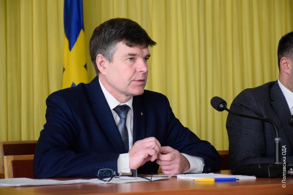 Начальник управління з питань цивільного захисту Полтавської ОДА Віктор Стеблянко